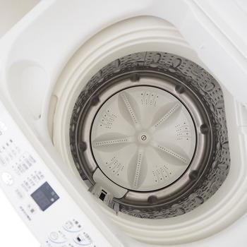 気になる洗濯槽の汚れやカビもセスキ炭酸ソーダで落とすことができます。 高水位までぬるま湯を入れたらセスキ炭酸ソーダを500g入れ、「洗い」で数分回した後2時間ほど置いておきます。 すると、カビや汚れが浮かび上がってくるので、ネットですくいましょう。その後再び洗いを開始し、すすぎ・脱水を行います。