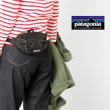 軽量のナイロンを使用してコンパクトに折りたたむ事も可能な「パタゴニア」のウエストポーチは、屋外レジャーにピッタリ♪容量は小さめなので、スマホとお財布など最小限の荷物を入れておきましょう。