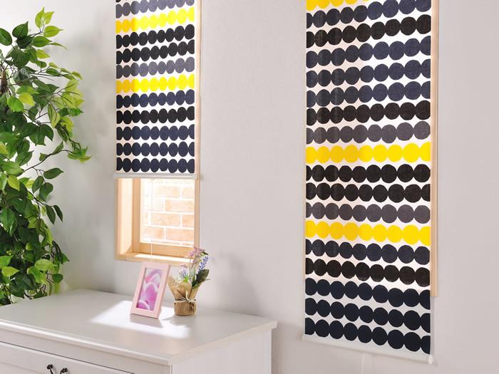 色鮮やかな柄のカーテンは、ファブリックパネル感覚で取り入れてもいいですね。 キッチンや廊下の小窓なら、個性的なデザインにも挑戦しやすい◎アクセントとして空間をおしゃれにしてくれます。