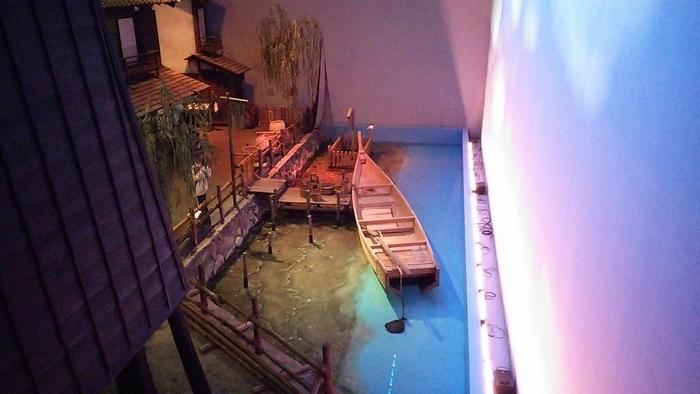 地下1階から地上2階までの吹き抜け空間にさまざまな展示があり、まるで江戸時代にタイムスリップしたかのよう。雨でもゆっくり見られるので、ぜひ一度足を運んでみてはいかがでしょうか?