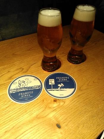 ビールを楽しむこともできますよ♪コースターまで可愛いですね。