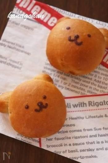 こんなかわいいくまさんのパンならお子さまも大喜びです!