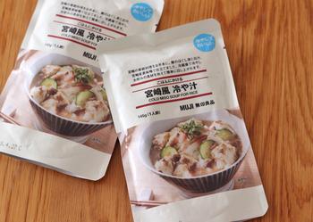 こちらは、同シリーズの「宮崎風 冷や汁」。本格的なご当地の味がおうちで手軽に味わえると人気です♪さっぱりとし味わいは、夏バテ気味…というときも食べやすい!