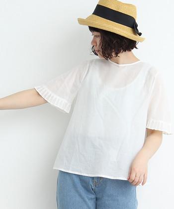 真っ白な服が一番清々しく見えるのは、少しずつ暑さが増し始める初夏の頃から。着心地の良い服に袖を通すと、気持ちまで明るく開放的になりますよね。