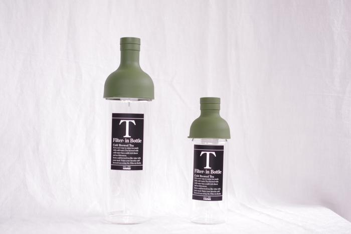 毎日作る水出し茶も、デザイン性の高いワインボトル型の「フィルターインボトル」で淹れてみるのはいかがでしょうか?