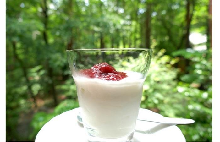 ヨーグルトやアイスクリームにトッピングするだけ♪爽やかな酸味がやみつきになりそう。