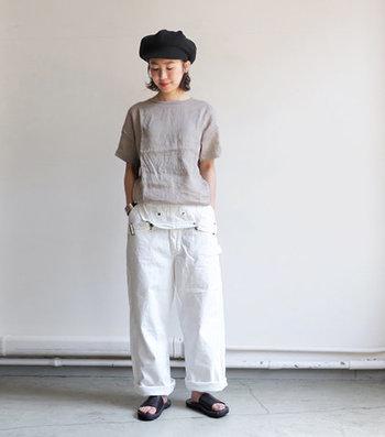 洗いのかかった麻素材を使った「maillot(マイヨ)」定番人気のリネンTシャツ。ふんわり柔らかな風合いで、暑い季節もさらりと過ごせます。豊富なカラー展開も魅力。何枚あっても困らないので色違いでそろえるのも◎。