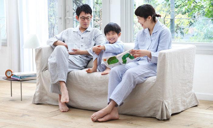男性、女性の他に、子供サイズもあるから一家そろって楽しむことも可能。触れ合う相手も心地よい生地って素敵ですね。