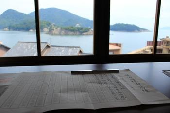 対潮楼では、仙酔島を眺めながら写経が出来るそうですよ。心静かに過ごす時間も良いものです。