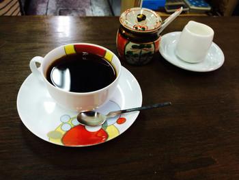 ハンドドリップで淹れたコーヒーがいただけます。かつて宮崎駿さんもここによく通っていたそうですよ。