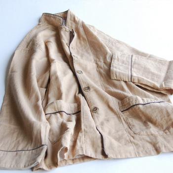 晒は晒でも「和晒製法」で作られたガーゼパジャマ。時間をかけてゆっくり製造されているから、繊維そのものの吸水性や通気性が高いのが特徴。