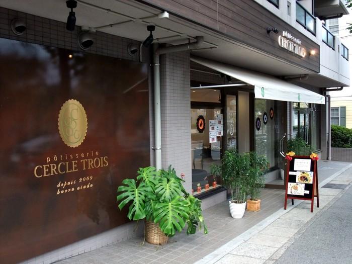住宅街の中に佇む「セークルトワ」。阪神・青木駅から徒歩約8分です。