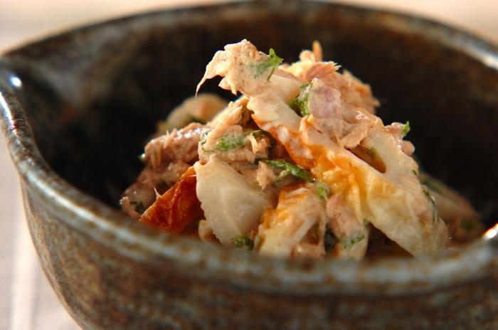 5分でできる!和えるだけの簡単レシピ。あと一品欲しい時やお弁当にもオススメですよ。