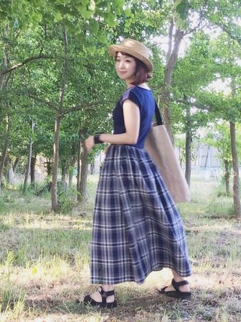 そして羽織物だけでなく、お出かけには欠かせない夏らしい帽子アイテムを取り入れた涼しげコーデもご紹介していきます!