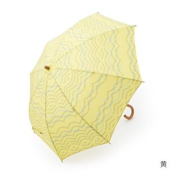 こんな素敵な模様なら、傘を広げるたびに楽しい気分にしてくれそう♪ちぢみ加工でシボを出し、湖畔のさざ波をイメージした晴雨兼用の傘。なんと柄の部分も伸縮するので、長傘としても使えます。