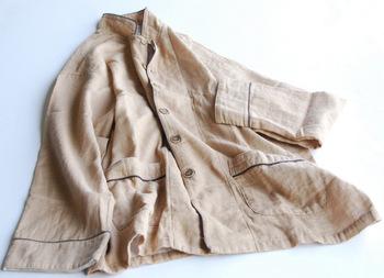 柔らかな 2重ガーゼので作られたパジャマ。夏には最適な吸水性・通気性に優れているのも嬉しいですね。
