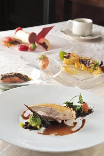 お料理に使われるお野菜は、地産地消を意識した信州ならではの味を楽しむことができます。