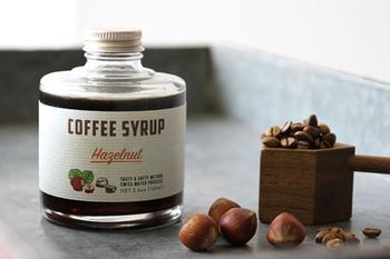 もっと手軽にコーヒーを楽しみたいなら、シロップがおすすめ。アイスコーヒーも簡単に作れるうえ、お菓子作りなどにも応用できます。