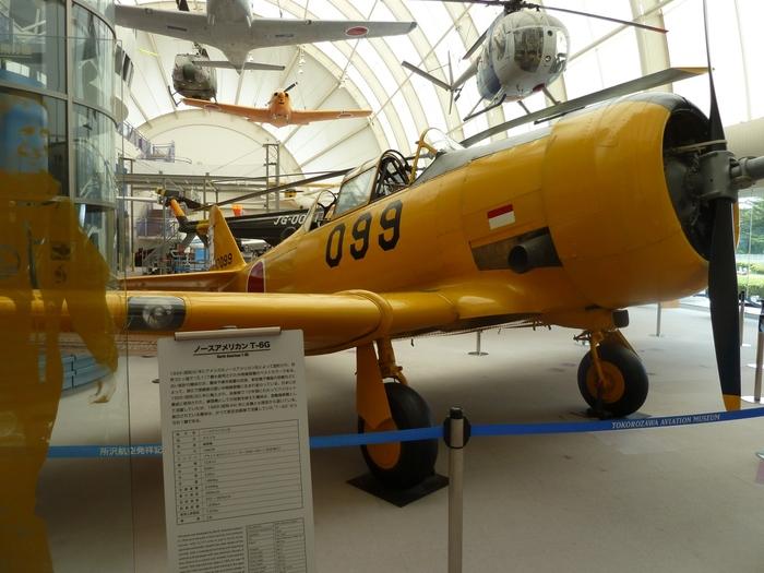 展示館には、国内外様々な航空機や、所沢飛行場の歴史を学べる展示があります。間近で見る航空機は迫力がありますね!