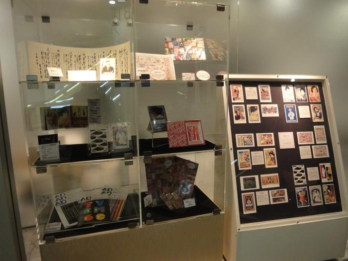 江戸時代から、明治・大正時代、昭和・平成のコーナーがあり、映像やデジタル展示もあってわかりやすく広告について知ることができます。