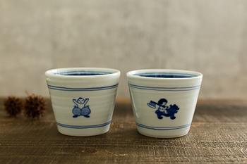心あたたまる桃太郎や金太郎が描かれた、そばちょこもおすすめ。マグカップやデザートカップとして、毎回の食卓にぜひ登場させてあげてください。