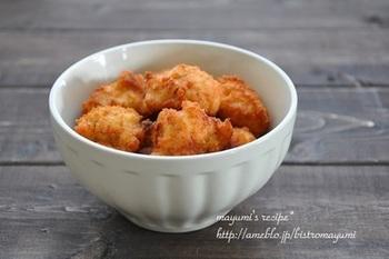 鶏ムネ肉を使った、ヘルシーで家計に優しい節約レシピ。お好みで粉チーズやゆずこしょうを混ぜても美味しい!  ■保存期間:冷蔵で4日、冷凍で2週間