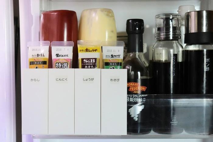 他にも、冷蔵庫の扉ポケットに、調味料の専用場所を作ったり、組み合わせとアイデア次第で色々な収納に応用することができます◎