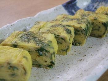味付けは白だしのみという非常に簡単なレシピです。しそを混ぜ込んで、オリーブオイルで焼き上げるので風味も抜群です。