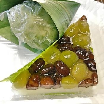 他にも、季節の和菓子がたくさん並んでいます。こちらはお持ち帰りもできるので、おうちで夏の和菓子を楽しむのも良いですね。
