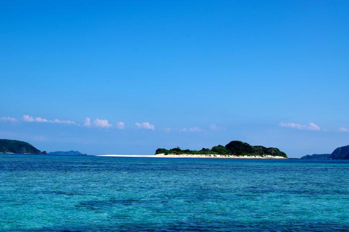 安慶名敷島(あげなしくじま)は、慶良間諸島の一つ、座間味島から船で約10分の距離にある全長約600メートルほどの小さな無人島です。