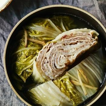 おなじみの豚肉と白菜の重ね蒸しも、無水調理ならさらに美味しく作れます。