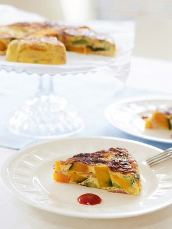 バーミキュラで旨味をギュッと濃縮させたお野菜は、卵との相性も抜群です♪