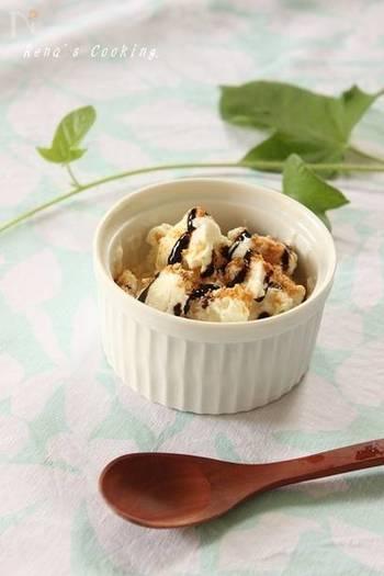 こちらのシャーベットは、豆腐が主役なのでとってもヘルシー◎あっさり優しい甘さのシャーベットは、仕上げにバルサミコソースをかけて食べるのがおすすめだとか。意外な美味しさにハマること間違いなし!