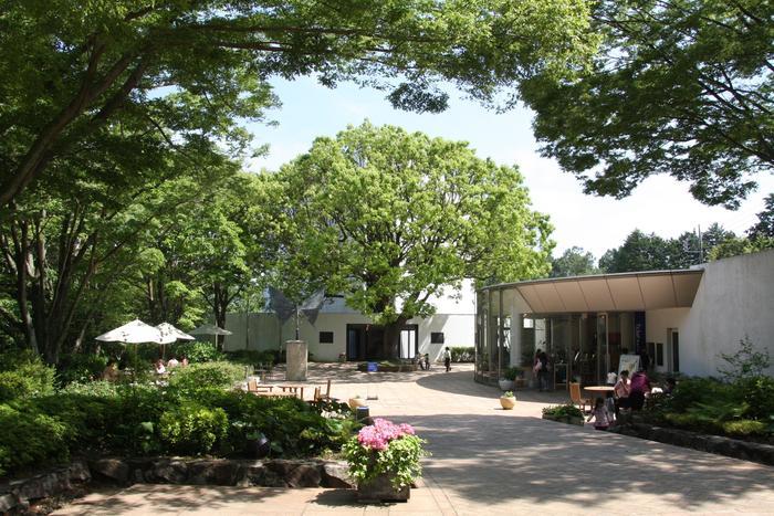 《ビュフェエリア》のシンボル的な施設が、こちらの「ベルナール・ビュフェ美術館」。フランスの具象絵画の巨匠、ベルナール・ビュフェの、世界最大のコレクションを誇る美術館です。 1973年、ビュフェの才能に惚れ込んだ元スルガ銀行頭取、岡野喜一郎氏によってに設立されました。