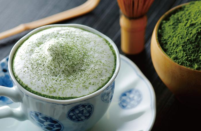 「抹茶ラテ」「京都宇治のお抹茶」など抹茶を使ったドリンクも充実しています。