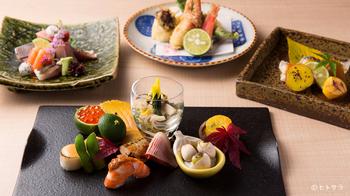 季節の旬の食材を使った、目にも美味しいコース料理がいただけます。彩り豊かでとっても鮮やか◎