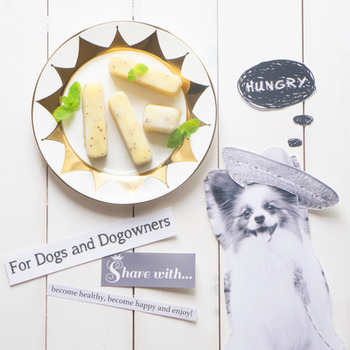 暑さが苦手なわんちゃんたち。夏はハアハア息も荒くなったり、ぐてーっと冷たい床に伸びています。氷を舐めさせる、という飼主さんも多いですね。そんな暑い日には、果物のシャーベットのおやつはどうでしょう。バナナもキウイも犬に大丈夫とされる果物ですが、アレルギーがあったり通院中の子は、かかりつけの獣医さんに相談のうえ与えましょう。 ※果物でもブドウはあげないように注意してください。