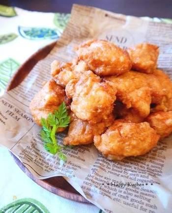 こちらには、唐揚げをおいしく作るコツが紹介されています。練島唐辛子のホットソースを添えて、沖縄アレンジも味わってみませんか?