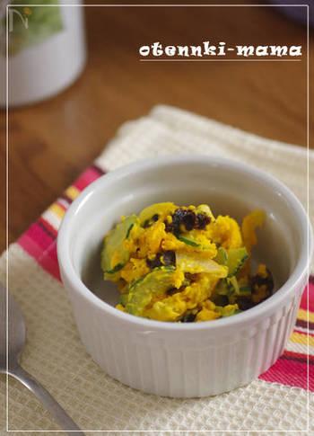 同じく夏野菜の定番野菜・きゅうりをたっぷり使ったかぼちゃサラダ。プルーンがない時はレーズンでも美味しく仕上がります。