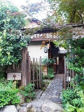 平安神宮近くにある、京都らしい情緒豊かな古民家のお店「京都生ショコラ オーガニックティーハウス」。