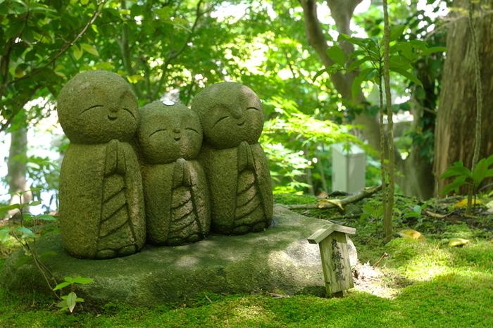 花の寺と呼ばれ、鎌倉の有名観光スポットとして知られる「長谷寺」は、江ノ電の長谷駅から歩いて5分程度。本覚寺からは歩いて25分程かかります。アジサイが咲き誇る景色が有名で、6月頃のアジサイ開花シーズンには多くの人で賑わいをみせます。