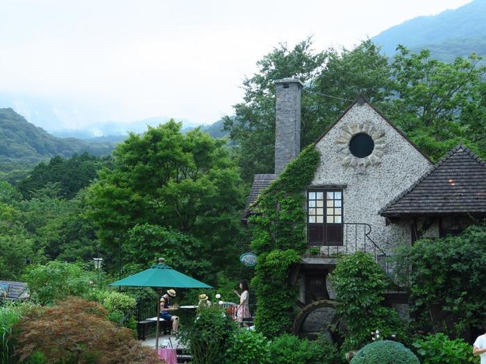 特に箱根湯本や強羅、仙石原や元箱根には、収蔵品が秀逸な美術館や特徴あるミュージアムが数多く在しています。 【「ガラスの森美術館」内の水車小屋「アチェロ」。撮影は8月中旬】