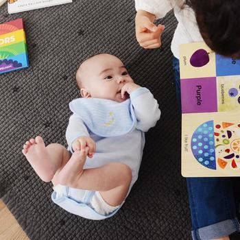 肌触りはとても優しく赤ちゃんにぴったり。1日に何度もスタイを変える赤ちゃんにはこのぐらい厚みのあるタイプをプレゼントするのがおすすめです。