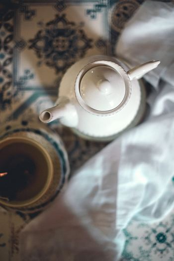 急須がなければ紅茶用の陶器ポットを代わりに使ってもいいのです♪