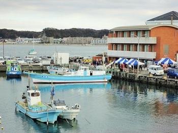 同港は、「ハヤマ・マーケット日曜市」の開催場所になっています。地の魚介や野菜、名店や人気店の美味が格安で手に入ることから、遠方から駆け付けるひとも。毎日曜日8:30~。