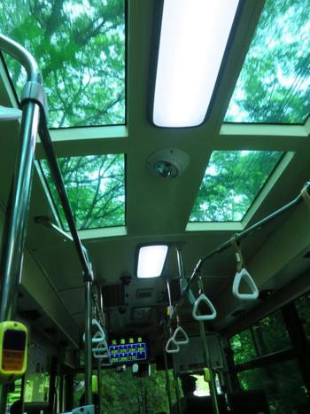 【「観光施設めぐりバス」の車内】