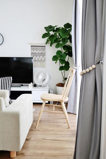 どんなインテリアともスッキリ馴染むシンプルデザインも、とっても魅力的!洗濯物を部屋干ししなくてはならない季節などにもとっても重宝しそうです。
