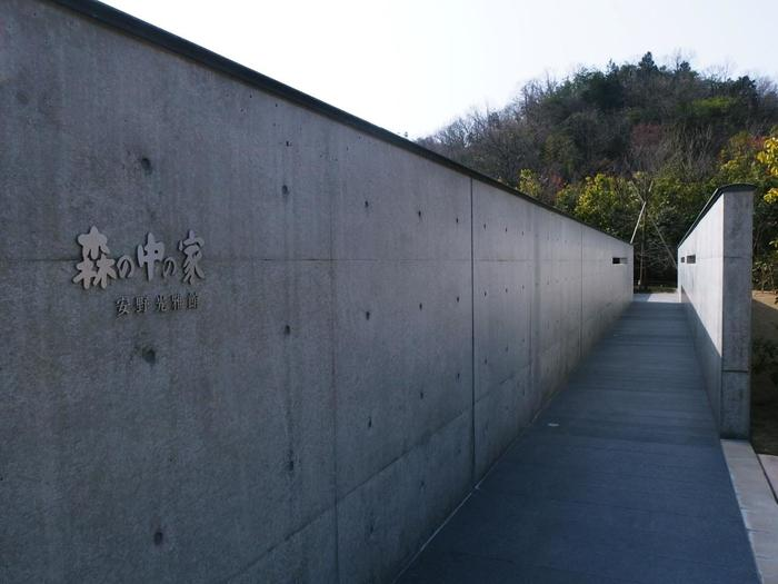 「森の中の家」は、京都の老舗料亭「和久傳(わくでん)」により造られた美術館で、建築設計は安藤忠雄さん。建物もあわせて、芸術を堪能できます。