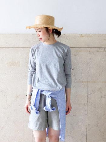 年間通して着用できる柔らかく肌触りの優しいコットン100%を使用した、ベーシックな9分袖カットソー。インナーに着ることを想定しているため、やや細長いフィット感に仕上がっています。
