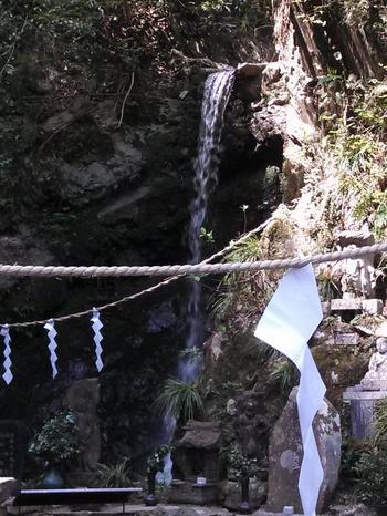 夏でもひんやり涼しく、マイナスイオンたっぷり。滝行ができることで知られ、予約をすれば誰でも修行体験ができます。